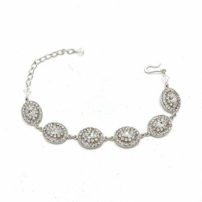 Silver Swarovski Bridal Bracelet