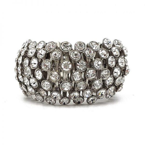 diamante cuff bracelet