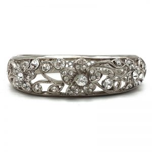 Silver Floral Bangle