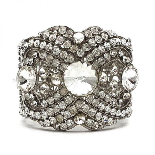 Side Silver Bridal Cuff