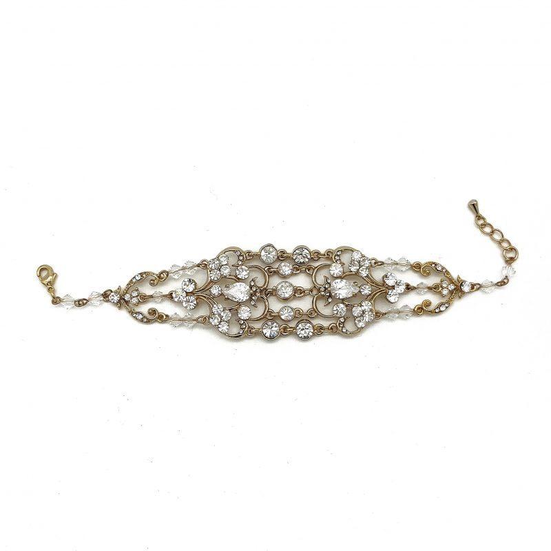 Wide Gold Bridal Bracelet