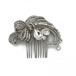 Vintage Silver HAir Comb