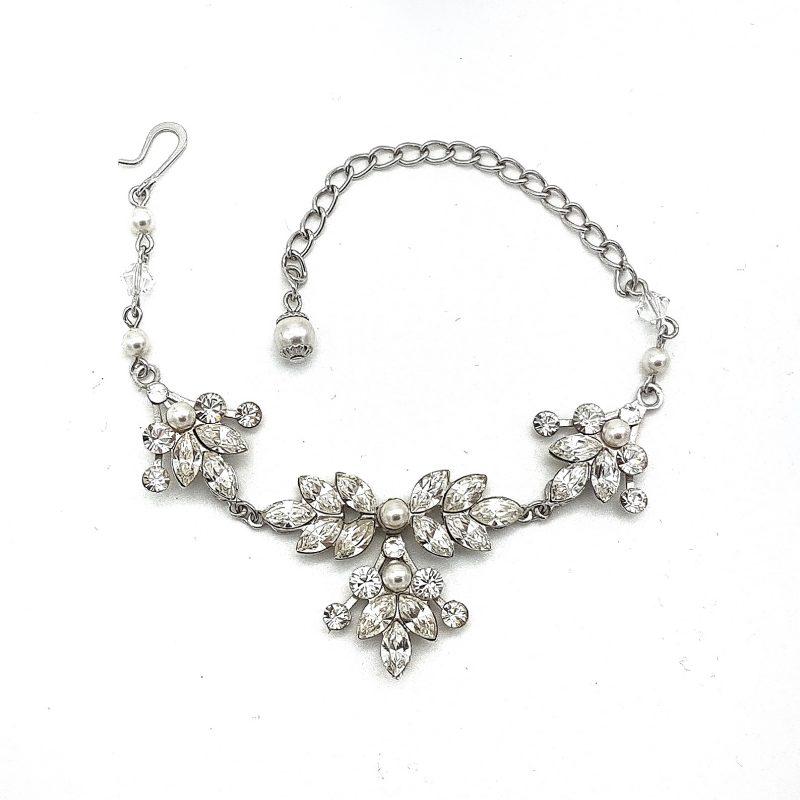 Crystal and Pearl Bridal Bracelet