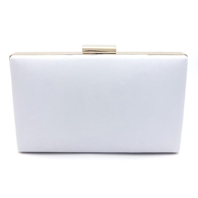 classic white bridal clutch