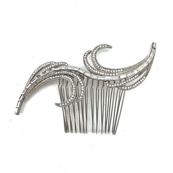 Vintage swirl bridal hair comb