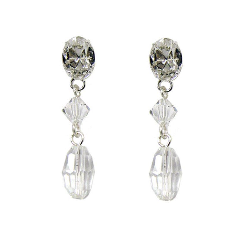 Rhinestone & Swarovski Earrings - NL50441SCH