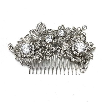 Large Bridal Floral Hair Comb