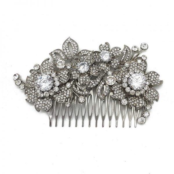 Large Bridal Floral Hair Comb