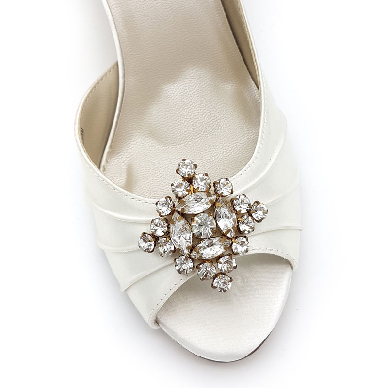 gold diamond shoe clips