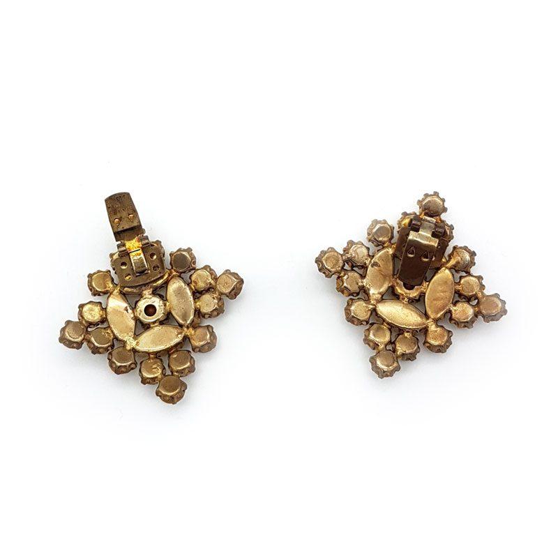 diamond shaped gold shoe clips