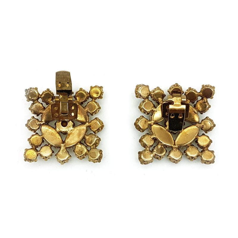 gold square shoe clips