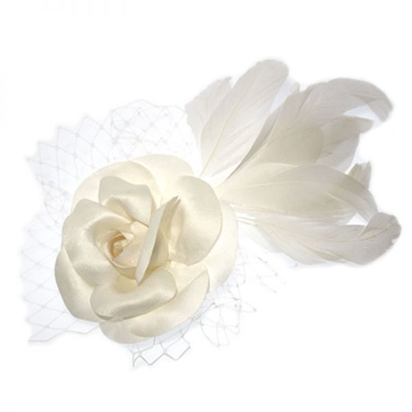 Flower and Feather Hairpiece - GC103