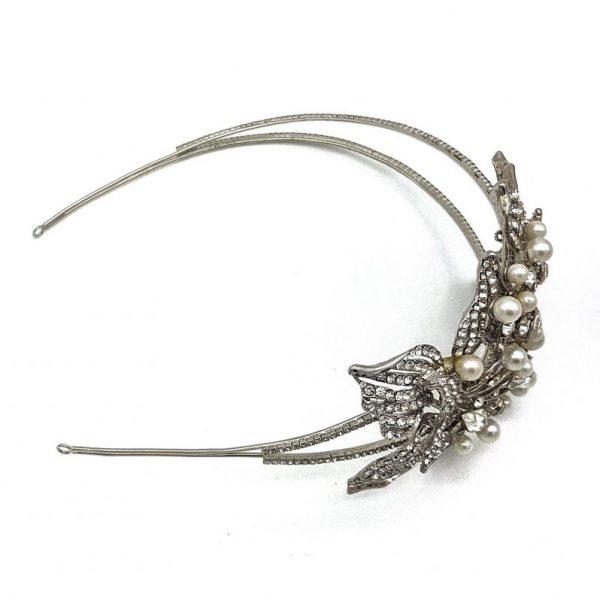 pearl and diamante bridal headband