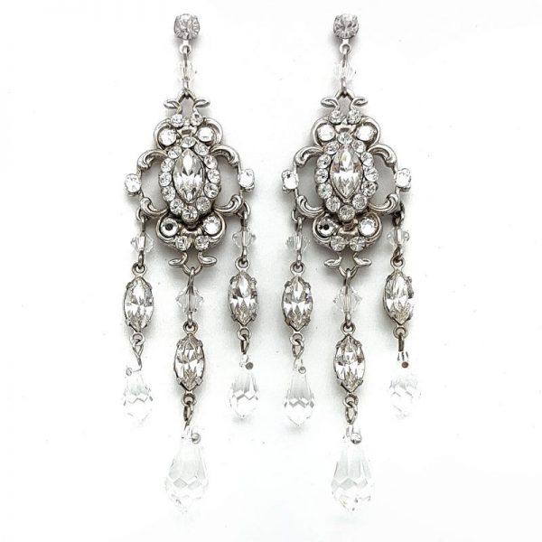 large swarovski crystal chandelier earrings