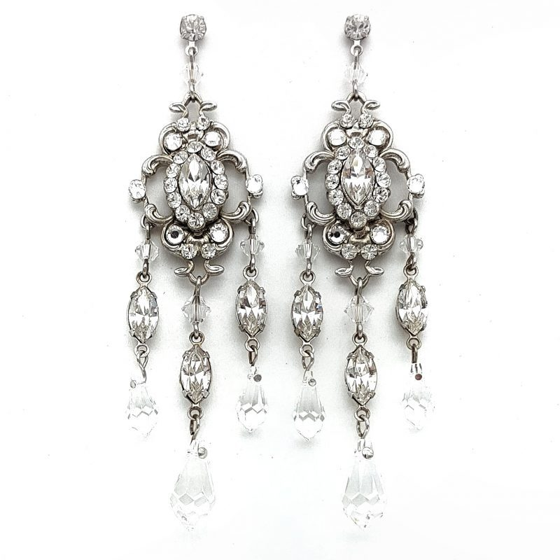 large swarovski crystal chandelier earrings