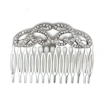Rhodium Vintage Hair Comb