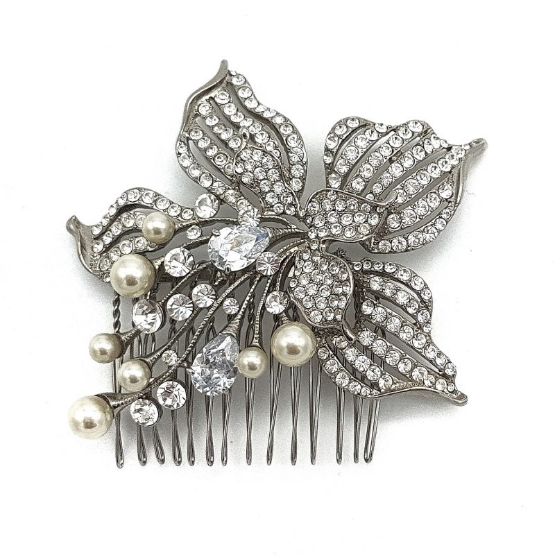 Pearl and Diamante Hair Comb