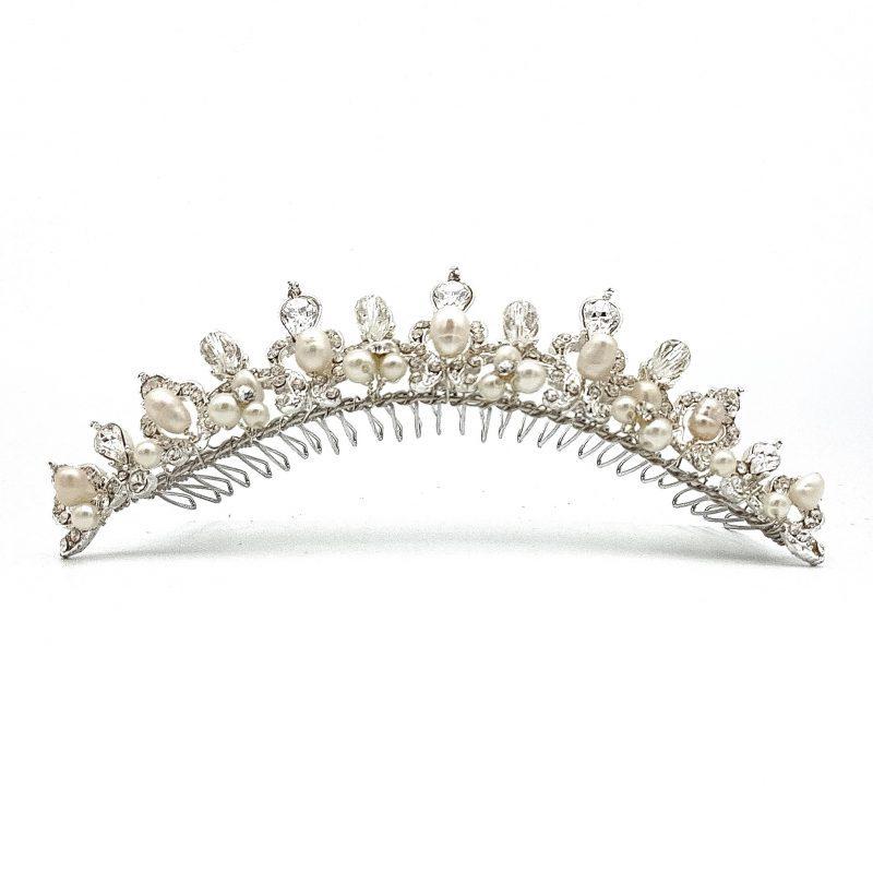 pearl and crystal tiara