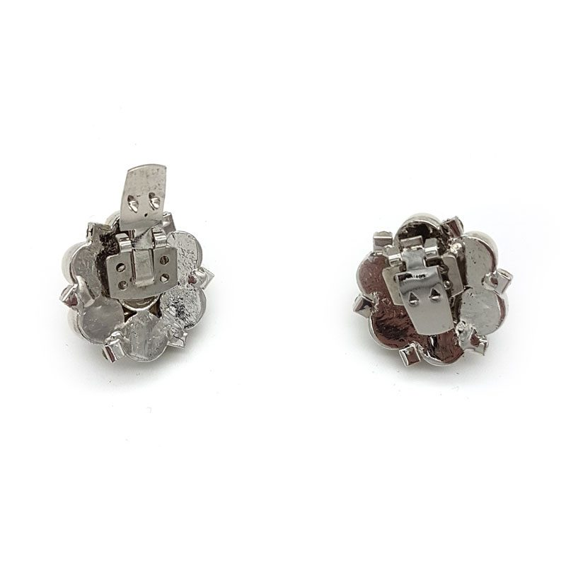pearl silver bridal shoe clips