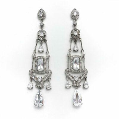 large chandelier wedding earrings
