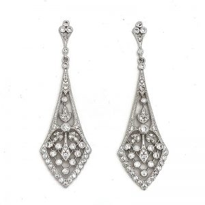 large silver drop earrings