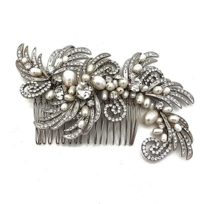 Vintage Fresh Water Pearl Bridal Hair Comb