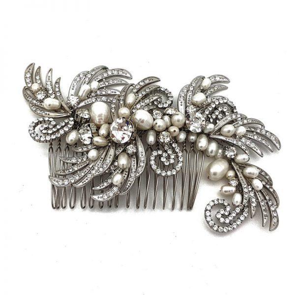 Vintage Fresh Water Pearl Bridal Hair Comb