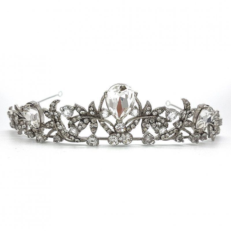 Silver Rhinestone Bridal Tiara