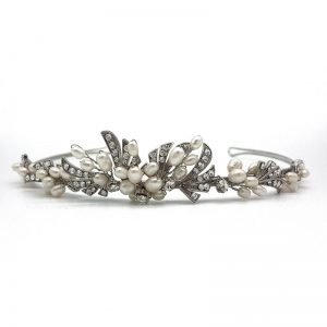 Silver Crystal and Pearl Tiara