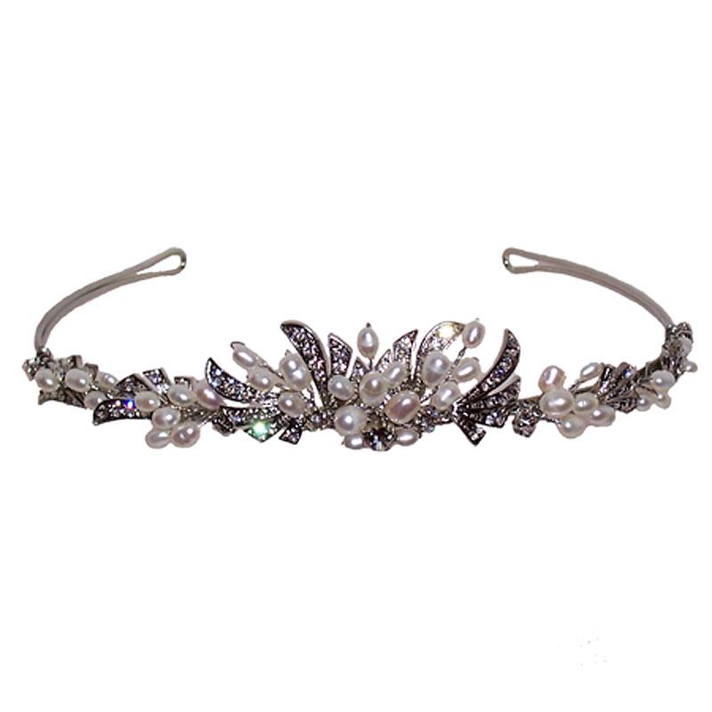 Pearl Tiara/Headband - VIN119WL