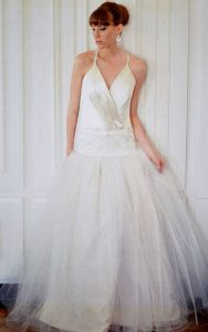 Beaded Lace and Tuelle Couture Gown
