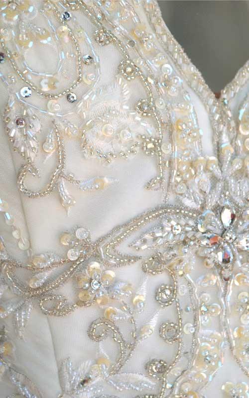 Beaded Halter Bridal Gown - T3900 - Sz 10