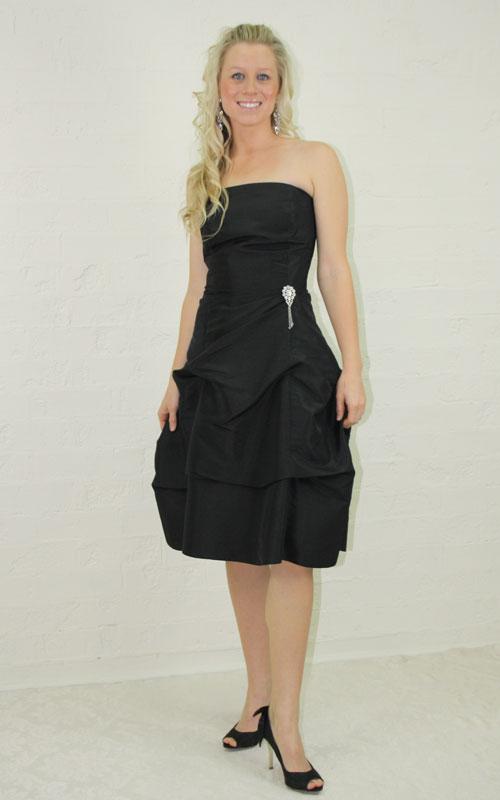 Black Strapless Cocktail Dress - MG1360