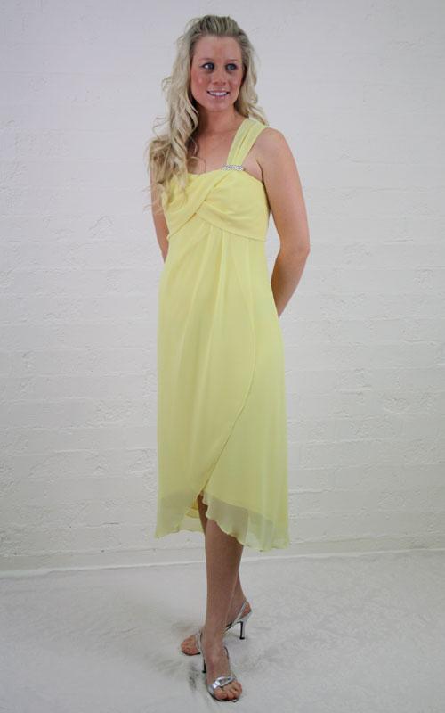 Single Strap Chiffon Cocktail Dress - MG1447