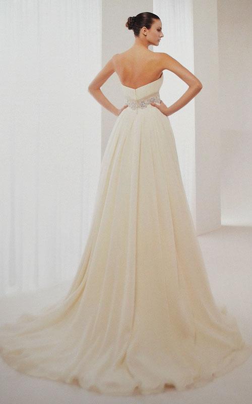 Ivory Strapless Wedding Dress - K95086 - Sz 12