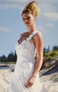 Floral Silk Couture Wedding Dress