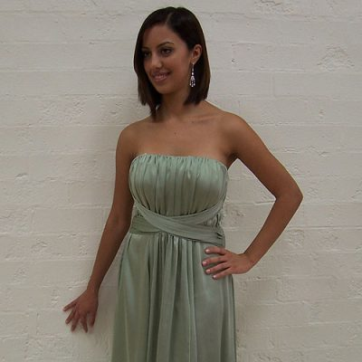 Green Strapless Cocktail Dress