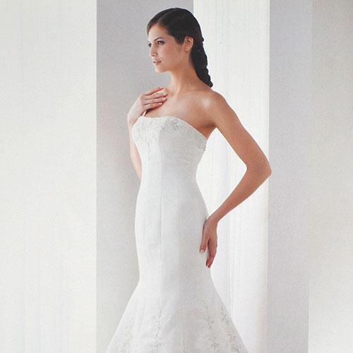 Strapless Mermaid Bridal Gown - K95023 - Sz 8