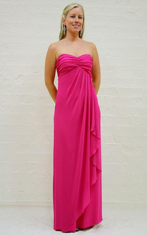 Pink Strapless Evening Dress - MG1383