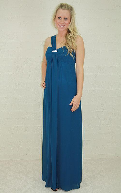 Long Single Strap Evening Dress - MG1450