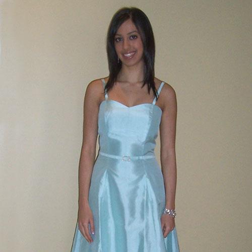 Mint Green Thai Silk Cocktail Dress - GC5002