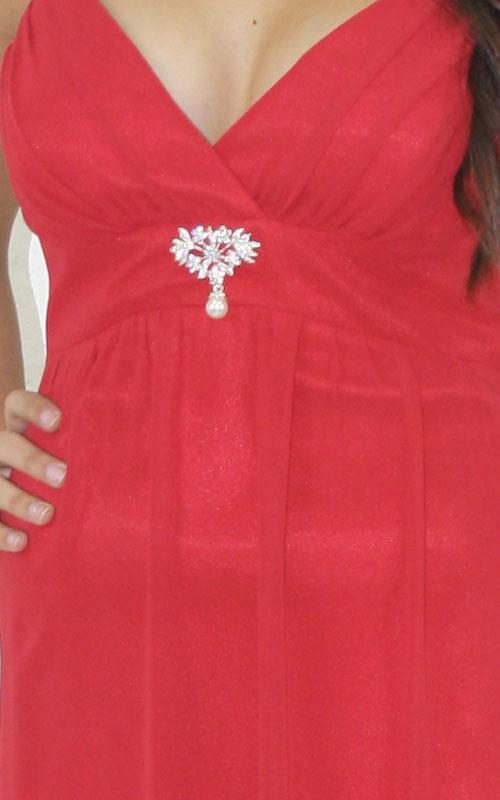 Scarlet Chiffon Cocktail Dress - MG1401