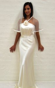 Silk Halterneck Couture Bridal Gown