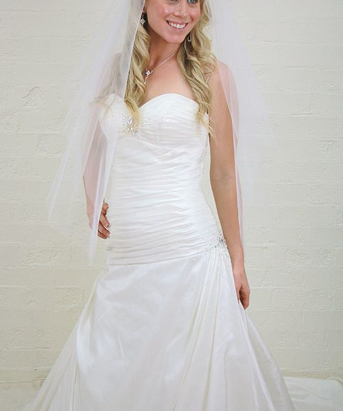 Strapless Sweetheart Bridal Gown - A95083 - Sz 12   Glam Couture