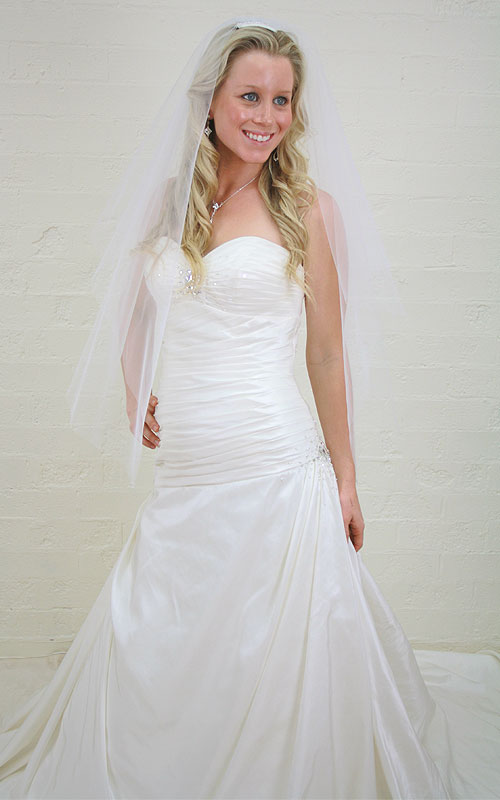 Strapless Sweetheart Bridal Gown - A95083 - Sz 12