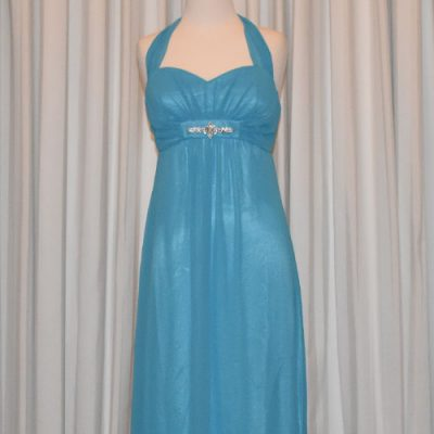 turquoise evening dress