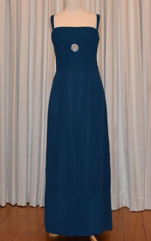 Long Sapphire Bridesmaid Dress - MG1466