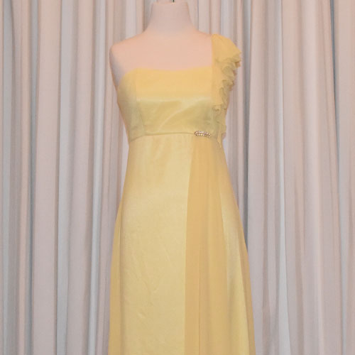 lemon chiffon evening dress