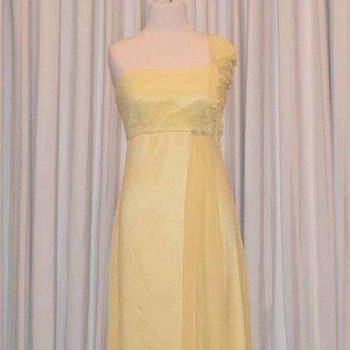 lemon chiffon evening dress