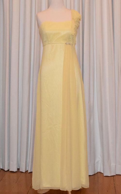 Elegant Lemon Chiffon Evening Dress - MG1433